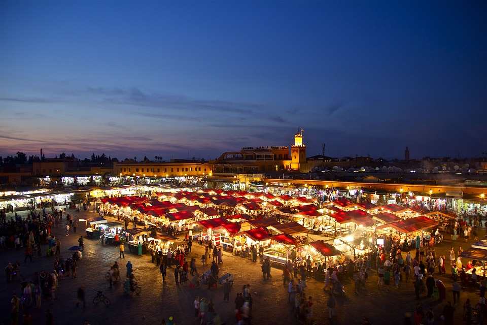 the wonders of the Djemaa El-Fna, the busiest square in Africa.